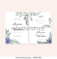 vintage wedding set greenery wedding invitation stock vector Wedding Invitation Postcard Vector unique gentle vector wedding cards template with watercolor wedding invitation or save the date, vector and psd - wedding invitation postcard
