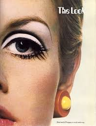 twiggy exaggerated eyes with white shadow mod makeup makeup inspo makeup tips beauty