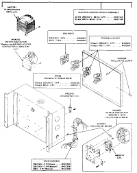 Electrical contactor box assembly diagram parts list for model operation 00043036 00022 full