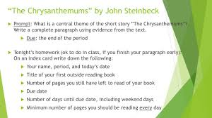 "the chrysanthemums"" by john steinbeck ppt video online  3 ""the"