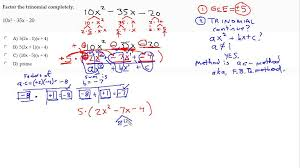 Ac Method Factor A Trinomial Using Ac Method With Gcf Youtube