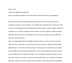 essay on frederick douglass s views about slavery in the city and document image preview