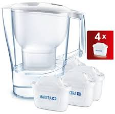 aluna x large jug with 4 filter cartridges from argos