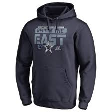 Line Personalized By Pro Black Pullover Nfl Fanatics Midnight Cowboys Dallas Hoodie Branded Mascot