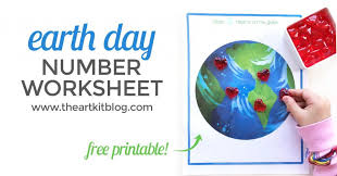Free Printable Earth Day Worksheet for Number Practice Fun - The Art Kit