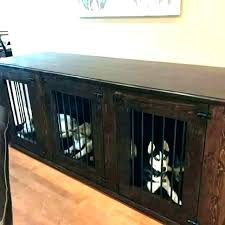 Wood dog crates furniture Posh Dog Indoor Wooden Dog Kennel Wood Furniture Large Crate End Table In Foter Furniture Dog Kennels Wooden Crate Plans Wood Kennel Deigualaigualco