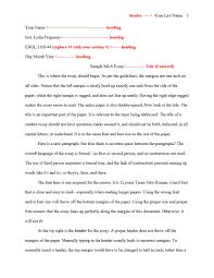 Mla Essay Heading Format