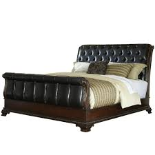 upholstered leather sleigh bed. Tufted Sleigh Bed   Frame Queen Full Size With Drawers Upholstered Leather O