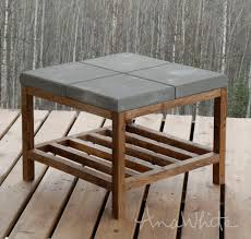 concrete paver outdoor coffee table concrete paver topped coffee table plans by ana white com