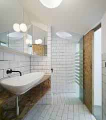furniture outstanding reclaimed bathroom vanity unit using particle board  shelving with long vessel sinks and matte