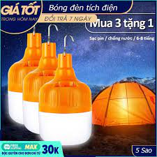 Shop bán Bóng đèn LED sạc tích điện, đèn led sạc pin ánh sáng trắng, có móc  treo kèm theo, bóng đèn gia dụng ánh sáng trắng, chống thấm nước, tiết kiệm