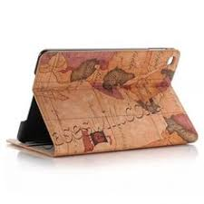 world map design leather smart cover stand case for ipad mini 4 brown us 14 29