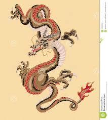 стиль старой татуировки дракона японский иллюстрация вектора