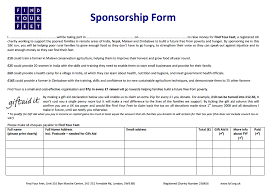 sponsorship forms for fundraising fundraising resources