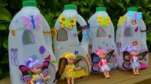 milk jug fairy houses