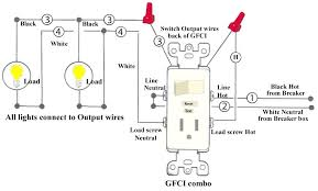 how to install and troubleshoot switch outlet combo gfci diagram switch wiring diagram gfci outlet combo leviton