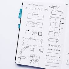 inspiration for a pretty bullet journal