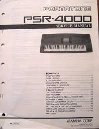 Yamaha Psr 4000 Portatone Midi Keyboard Workstation Original Service Manual Book