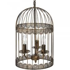 black birdcage chandelier with gold brush effect cream chandelier