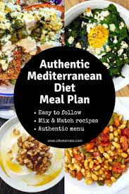 Meditation Diet Chart The Authentic Mediterranean Diet Meal Plan And Menu Olive