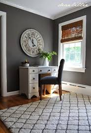 grey office. dear lillie jasonu0027s home officeguest room september 18 2014 http grey office