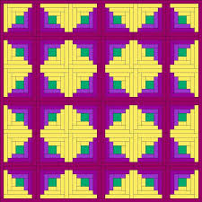 58 best Quilts: Log Cabin Sunshine & Shadow images on Pinterest ... & Log Cabin Sunshine and Shadows Pattern This layout consists of alternating  diamonds of dark and light. The design doesn't draw the eye across the quilt  as ... Adamdwight.com