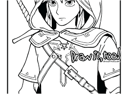 Legend Of Zelda Coloring Pages The Legend Of Coloring Pages Twilight