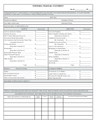 Personal Financial Statement Worksheet Excel Template Letter Synonym
