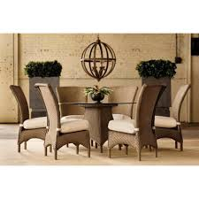 lloyd flanders mandalay 54 outdoor wicker dining table with 6 chairs