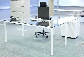 glass top computer table custom glass top for desk amusing glass desks for office modern desk