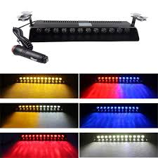 Used Ambulance Light Bar Details About 12 Led Car Dash Emergency Strobe Flash Light Bar Police Warning Lamp Red Blue