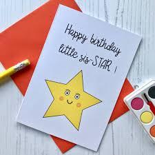 Little Sister Birthday Card