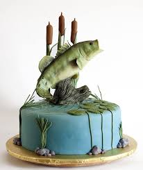Rustic Grooms Cake Cakes Decorated Beautifully Bass Fish Cake