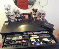 Makeup Organizers Target Inspiration My Makeup Vanity Makeup Organization All Done Within A Very