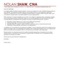 Cover Letter Design Great Sample Cover Letter For Nursing Assistant