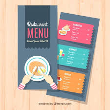 menu template in flat style free vector book ration