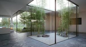 House Interior Garden Design Interior Glass Courtyard Indoor Zen Garden Indoor