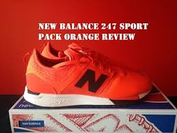 new balance orange. these are crazy - new balance 247 sport orange pack review