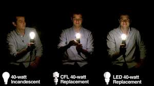 Difference Between Watts In Light Bulbs Light Bulb Lineup Comparing Incandescent Bulbs With Cfls And Leds