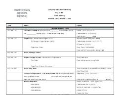 Multi Country Travel Itinerary Template Trip Example