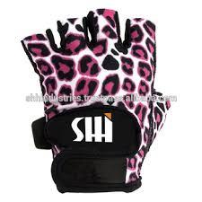 womens leopard print weight lifting gloves