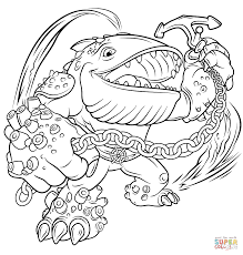 Small Picture Skylanders Giants Thumpback coloring page Free Printable