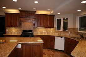 kitchen backsplash cherry cabinets black counter. Cherry Cabinets With Granite Countertops And Backsplash Kitchen Black Counter U