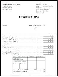Contractors Invoice Template Awesome Progress Billing Invoice Template