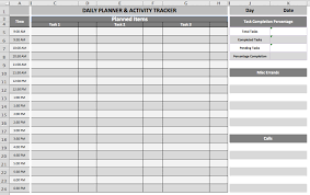 Daily Task Planner Template Microsoft Office Templates