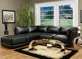 kayson contemporary leather sectional sofa by coaster