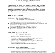 Work History Resume Example Machine Operator Resume Quit Job Letters Furnace Example Pictures 41