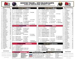 Houston Texans At New Orleans Saints Depth Chart Revealed