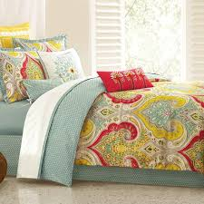 green yellow and red queen echo bedding collection rc willey furniture