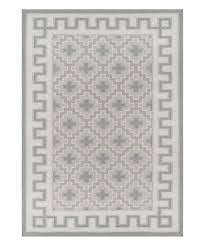 gray greek key border thompson wool rug